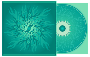 CD cover in turquoise.