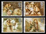 Britain Legends of King Arthur Postage Stamps poster