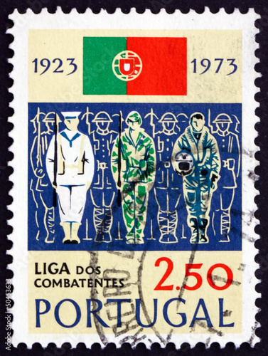Postage stamp Portugal 1973 Sailor, Soldier and Aviator