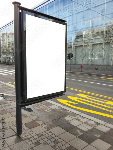 Empty street billboard