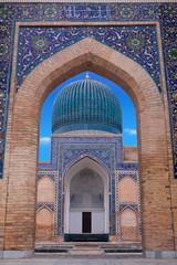 The mausoleum of the Asian conqueror Tamerlane in Samarkand, Uzb