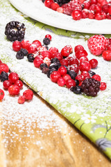 Berries covered with powdered sugar