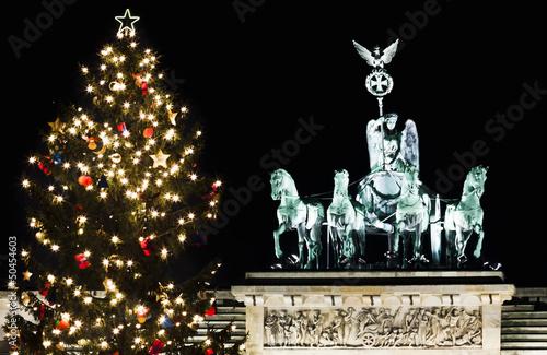 Brandenburger Tor in der Weihnachtszeit