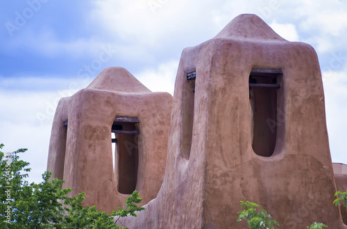 Adobe Towers in Santa Fe