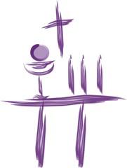 Sacred wine and bread communion Christian symbols