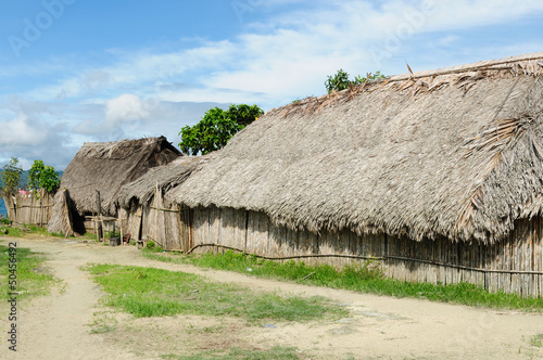 Panama, traditional house of the San Blas archipelago