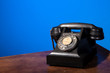 GPO 332 vintage telephone on blue