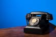 GPO 332 vintage telephone on blue