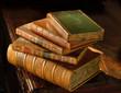 Vintage books stack-2