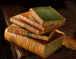 Vintage books stack-2