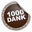 3D Aufkleber Dunkelbraun - 1000 Dank