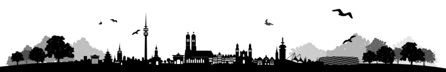 Skyline München Landschaft
