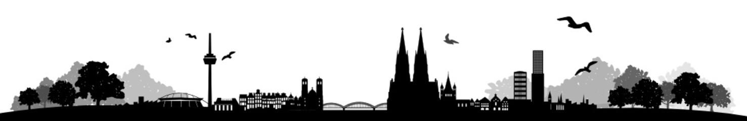 Skyline Köln Landschaft