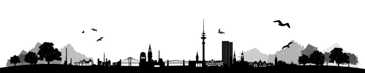 Hamburg Skyline Landschaft