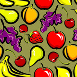 seamless background with fruit
