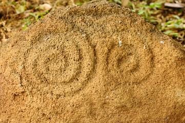 Nicaragua, Petroglyphs on an Ometepe island