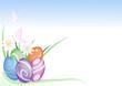 sfondo pasqua uova e margherite