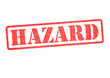 HAZARD Rubber Stamp