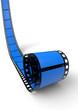 Blanko Filmrolle Blau 04