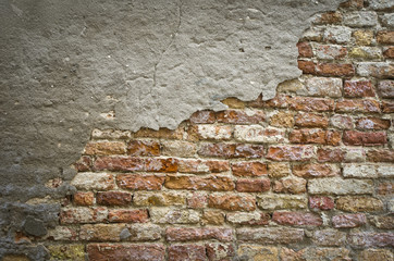 Backsteinmauer,coloriert,Vignette