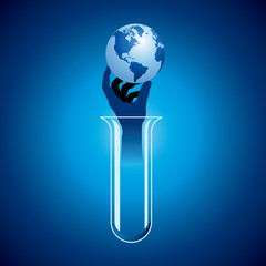 save earth concept with science