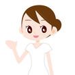 白いワンピースを着た綺麗な女性