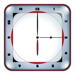 Rounded Square Elegant Clock