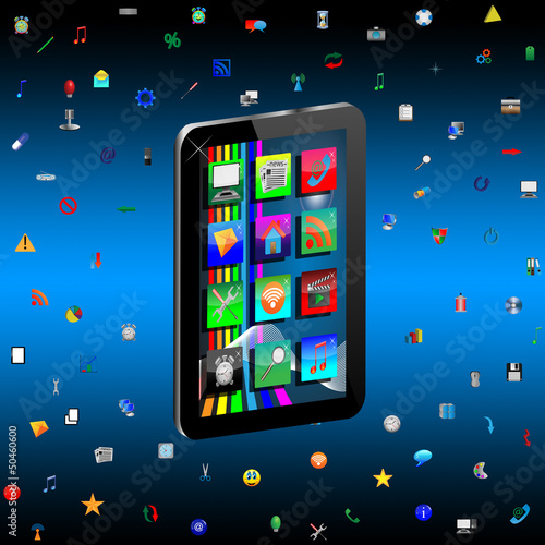 Tablet and Icons