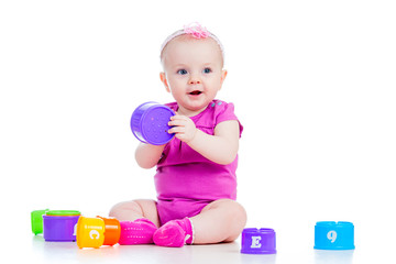 baby girl playing
