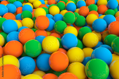 Colorful background of assorted Gumballs