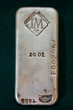Old Collectible 20 Ounce Silver Bullion Bar