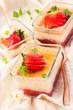 Rhubarb and strawberry dessert