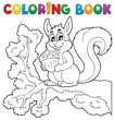 Coloring book squirrel theme 1