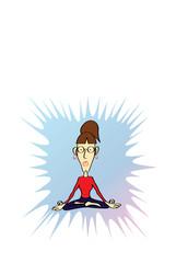 Funny Yoga Woman