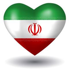 Herz mit Schatten - Iran