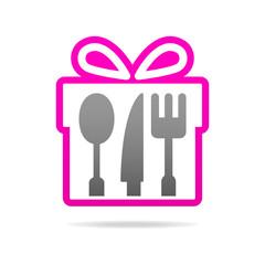 kitchen gift set logo icon