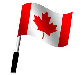 Flagge Kanada wehend