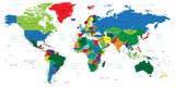 Fototapety World map-countries