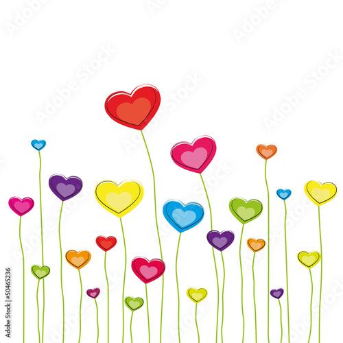 Farbenfrohe Herzen