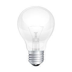 Vector Light bulb isolated on white