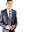 African American business man with folded arms