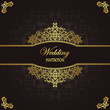 Vintage seamless wallpaper. Can be used as wedding invitation