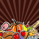 background with food