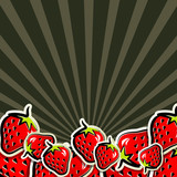 background with strawberries