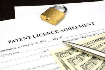 Patent Licence Agreement with dollars