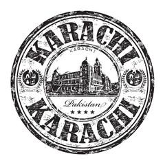 Karachi grunge rubber stamp
