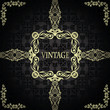 Vintage seamless background with a frame in retro style