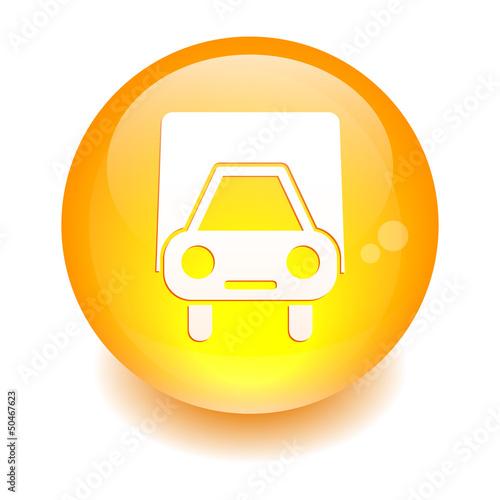 bouton internet camion livraison orange