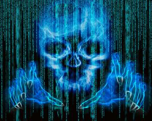 hacker attack concept