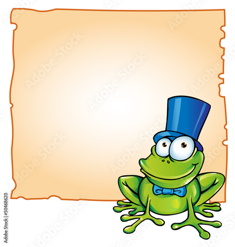 party frog with background